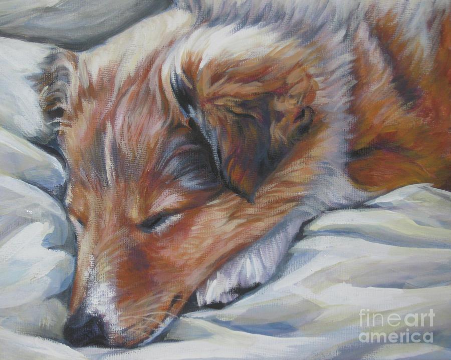 Shetland Sheepdog Painting - Shetland Sheepdog Sleeping Puppy by Lee Ann Shepard