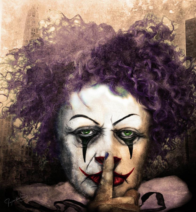 Clown Digital Art - Shhhhh by Jeremy Martinson