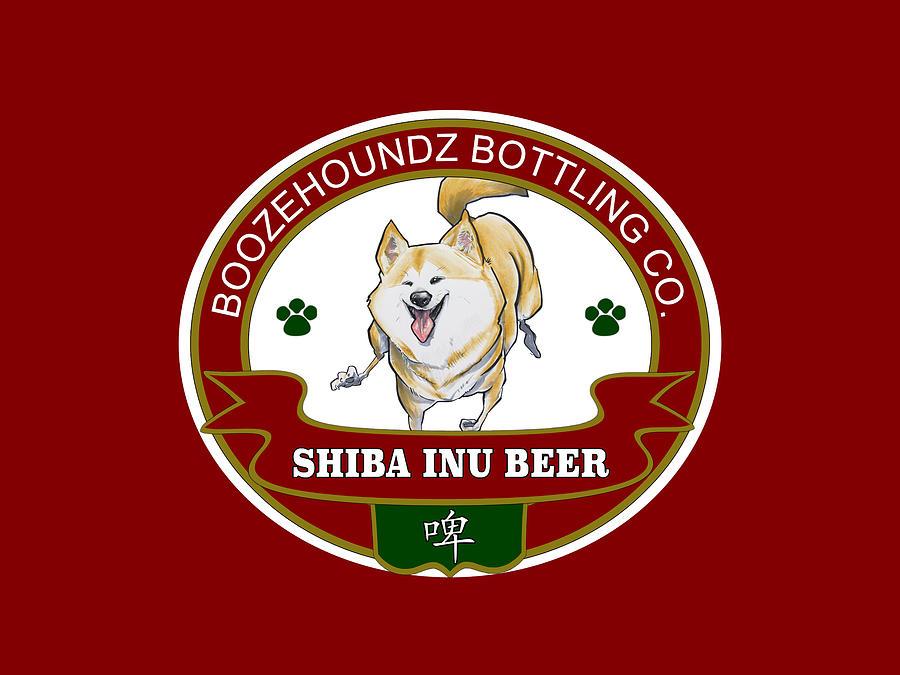 Shiba Inu Beer Drawing