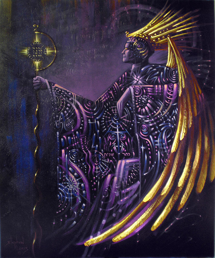 Oil Painting - Shielded By Ineffable Names Thus I Rule by Stephen Lucas