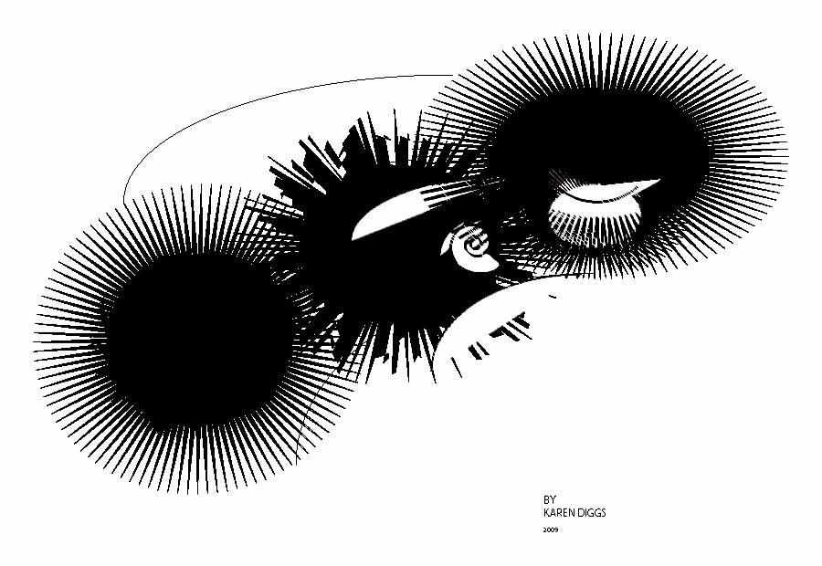 Abstract Digital Art - Shift by Karen Diggs