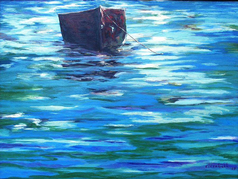Boat Painting - Shifting Boat by Beth Maddox