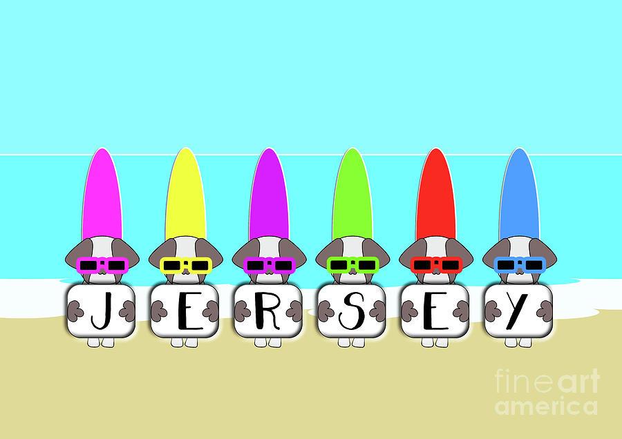 Surfboard Digital Art - Shih Tzu Surf Jersey by Barefoot Bodeez Art