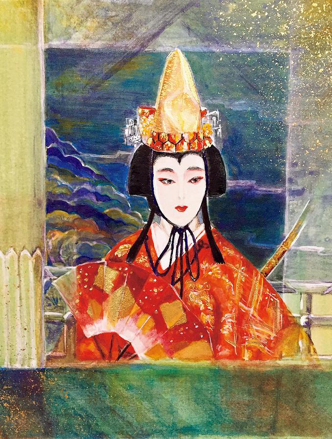 Japanese Painting Painting - Shima No Senzai by Kyoko Sawanaka