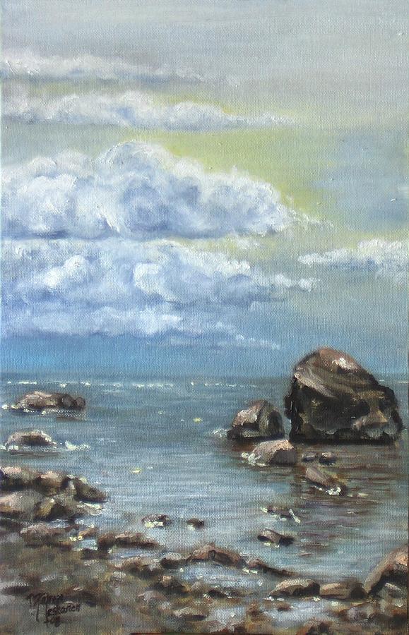 Sea Painting - Shimmer by Maren Jeskanen