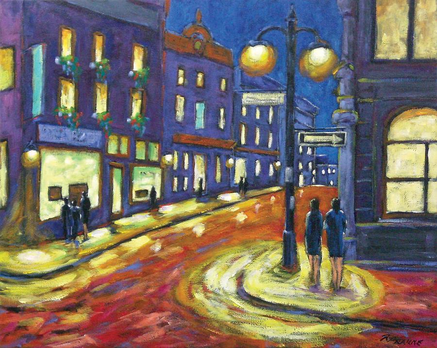 Night Painting - Shimmering Night by Richard T Pranke
