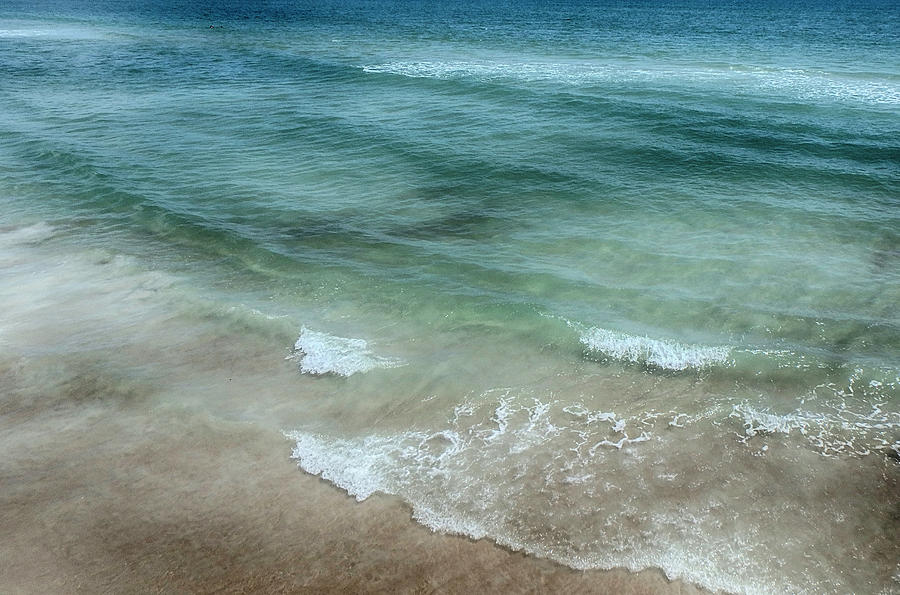 Beach Photograph - Shimmering Tide by Judy Hall-Folde
