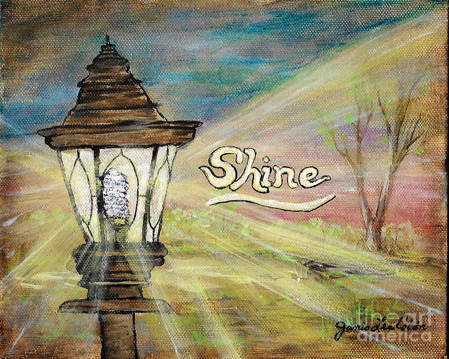 Shine Painting - Shine by Janis Lee Colon