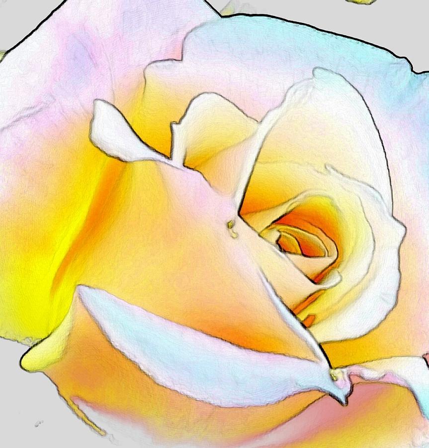 Flower Digital Art - Shine by Kumiko Izumi