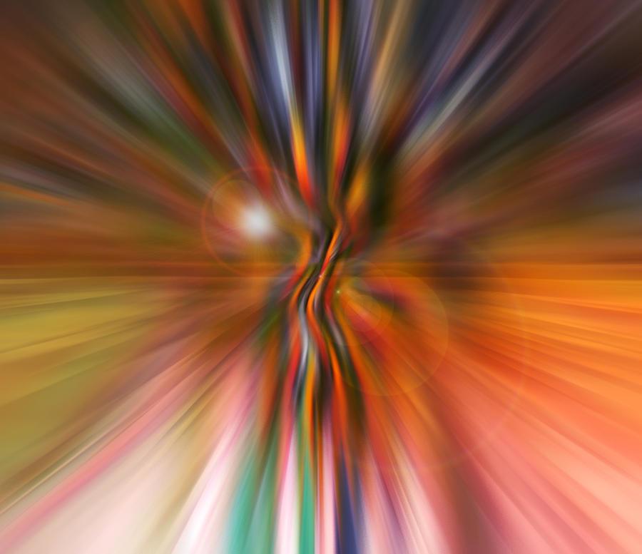 Abstracts Digital Art - Shine On by Linda Sannuti