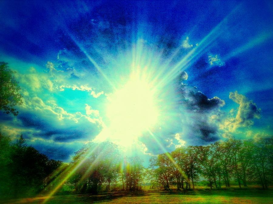 Sun Photograph - Shining Bright by Kevin Wheeler