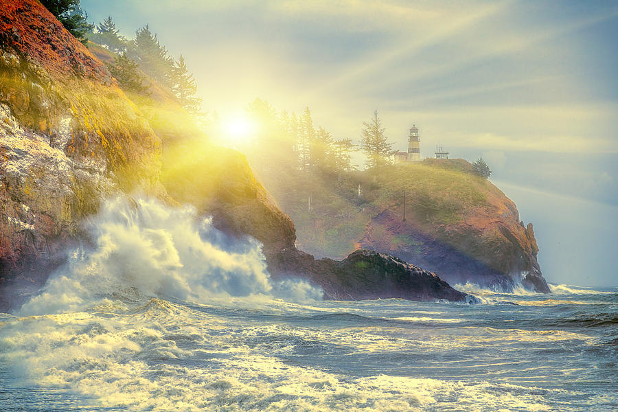 Lighthouse Photograph - Shining Through The Storm by James Heckt