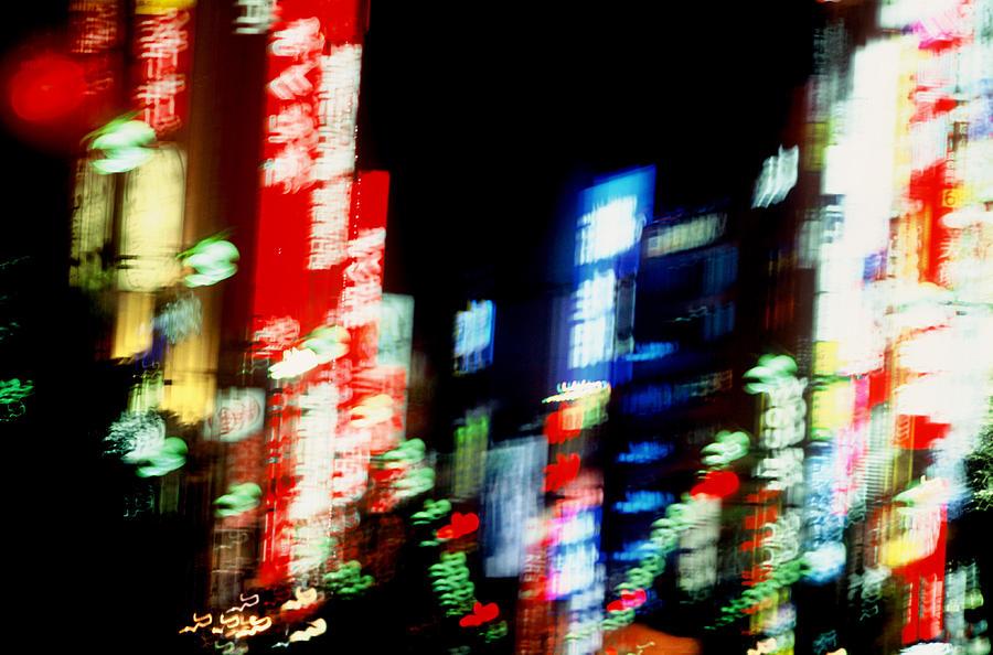 Neon Photograph - Shinjuku Abstraction by Brad Rickerby