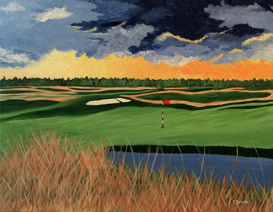 Shinnecock Hills 18th Hole by Connie Spencer
