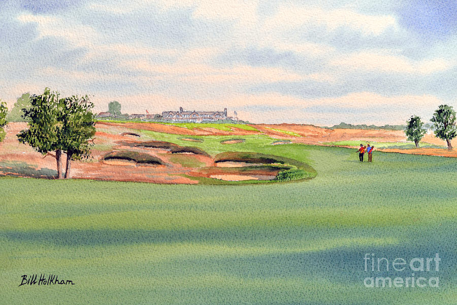 Golf Painting - Shinnecock Hills Golf Course by Bill Holkham