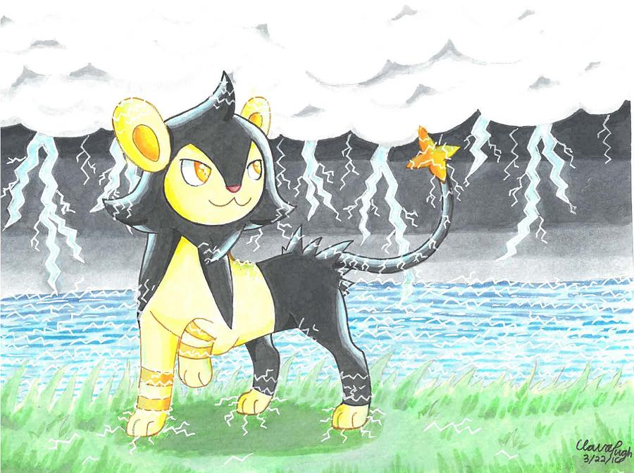 3857a960b Shiny Luxio Illustration Drawing by Benjamin Pugh
