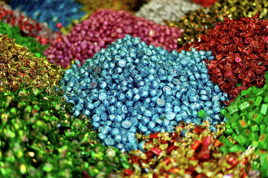 Horizontal Photograph - Shiny Sweets In Spice Market by Image by Damian Bettles