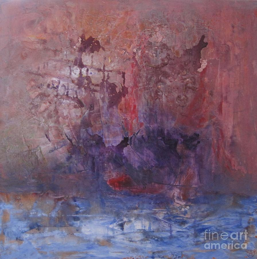 Abstract Painting - Ship by Agneta Holmqvist