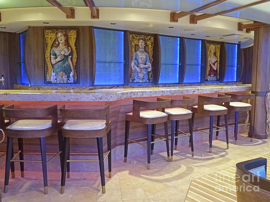 Figureheads Painting - Ship Figureheads - Schooner Bar by Leigh Banks