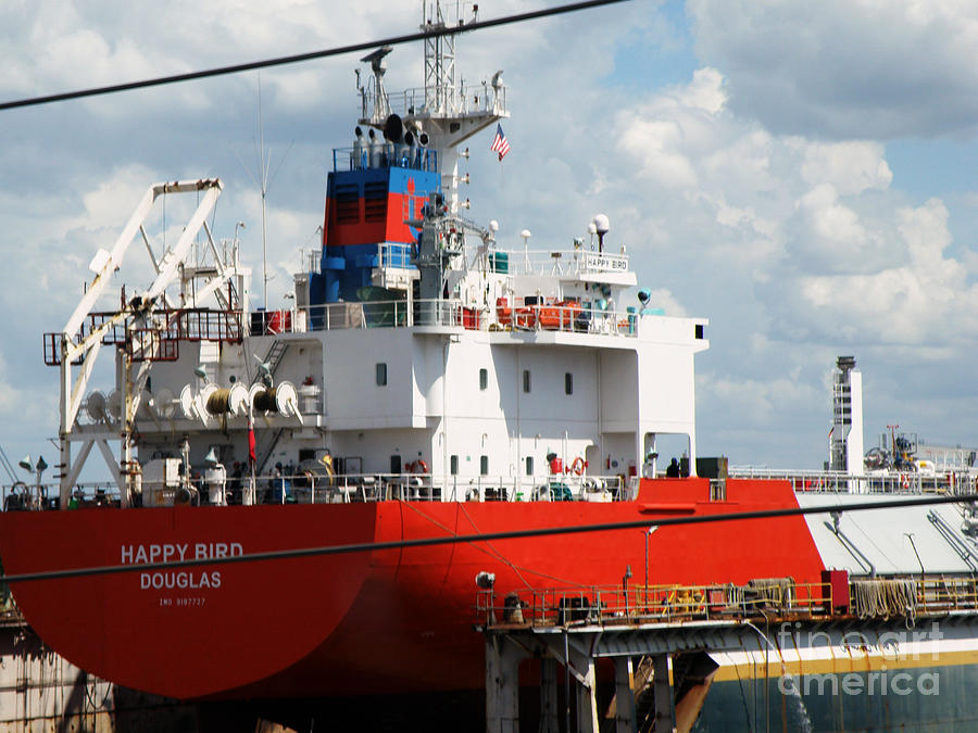 Ship Photograph - Ship In Tampa Harbor by Rose  Hill