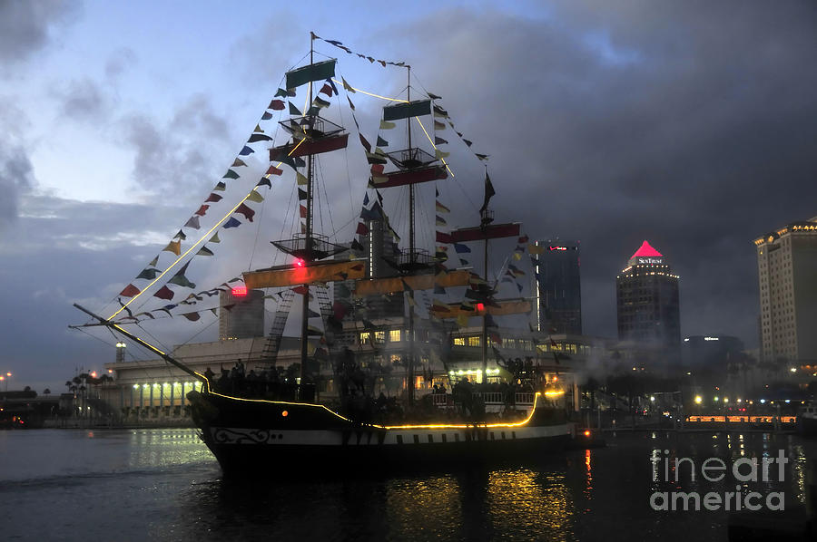 City Photograph - Ship In The Bay by David Lee Thompson