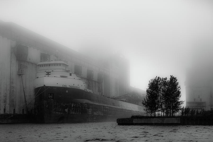 Ship Photograph - Ship in the Mist by Linda Ryma