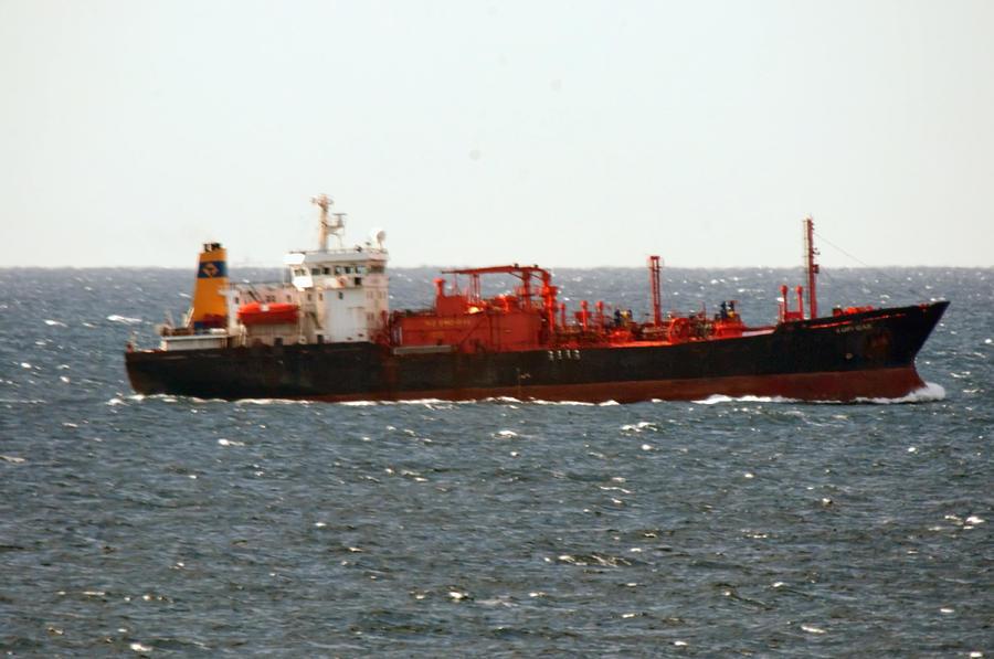 Ship Photograph - Ship Leaving Galveston by Bill Perry