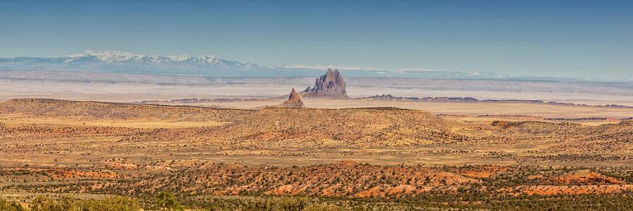 Pano Photograph - Shiprock From Arizona Panorama 2 - New Mexico by Brian Harig