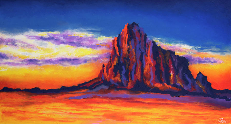 Shiprock Mountain Painting