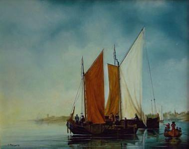 Ships Painting - Ships In A Harbour by Tjerk Reijinga
