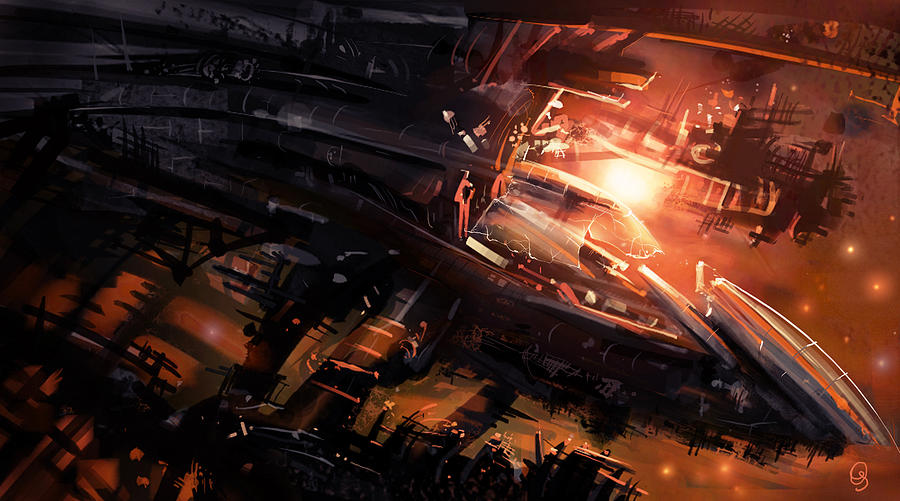 Space Digital Art - Shipwreck by Odysseas Stamoglou