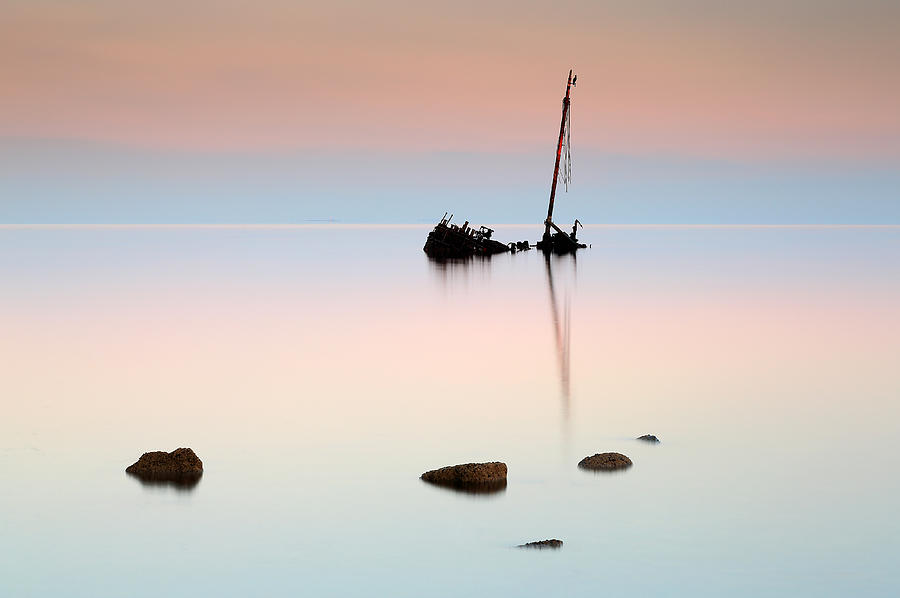 Shipwreck Photograph - Shipwreck Sunrise by Grant Glendinning
