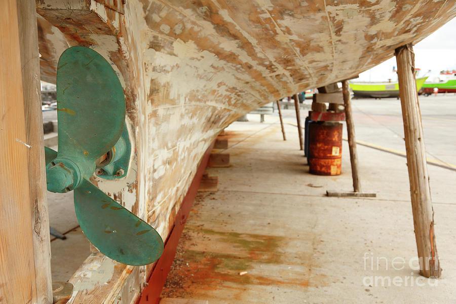 Propeller Photograph - Shipyard by Gaspar Avila