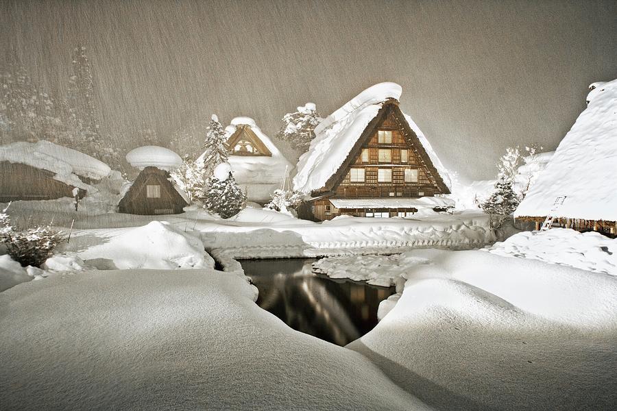 Shirakawa Digital Art - Shirakawa by Dorothy Binder