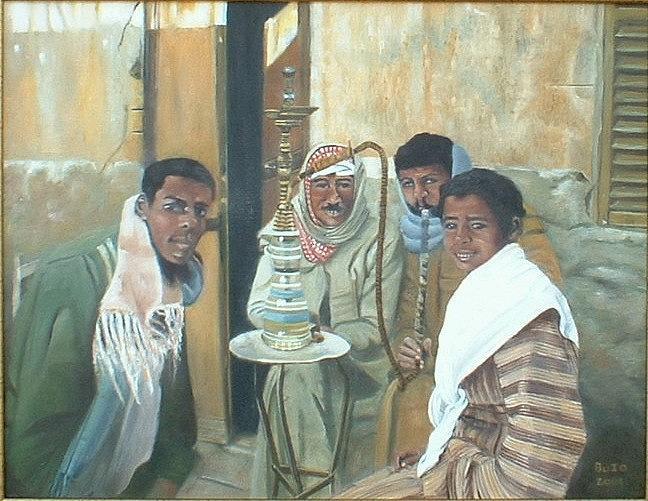 Shisha Painting by Lyne Bujold