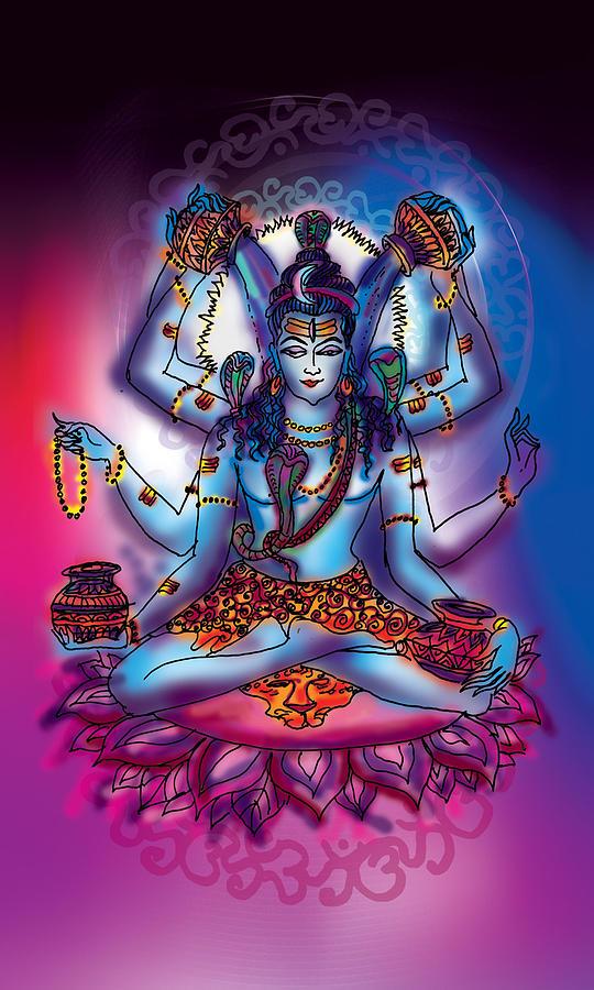 Shiva Abhishek  by Guruji Aruneshvar Paris Art Curator Katrin