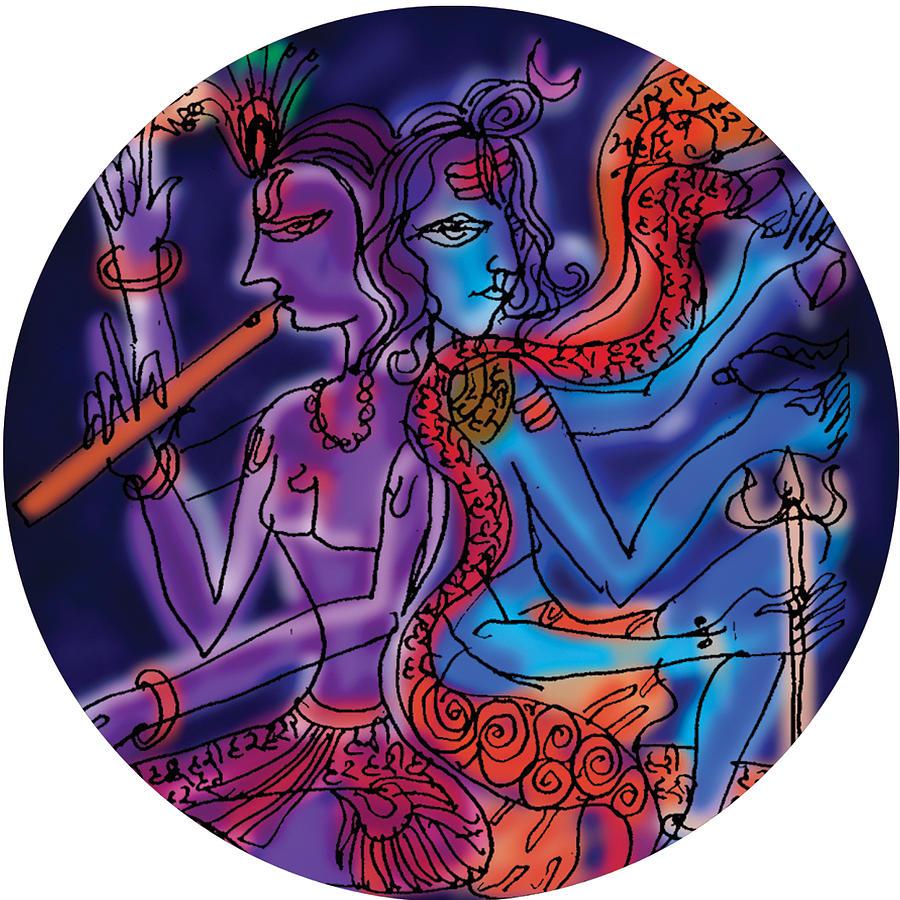 Shiva and Krishna by Guruji Aruneshvar Paris Art Curator Katrin Suter