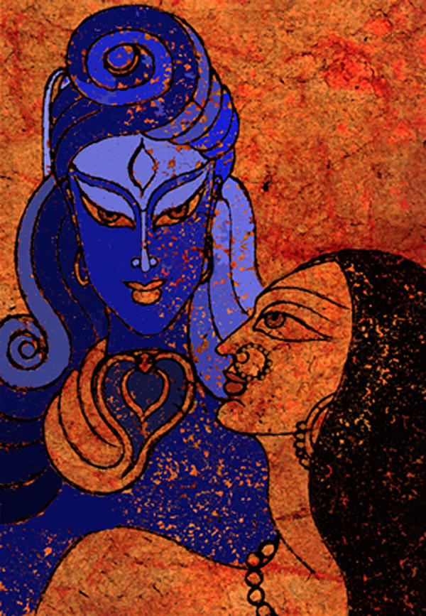 Shiva Mixed Media - Shiva And Shakti by Sonali Chaudhari