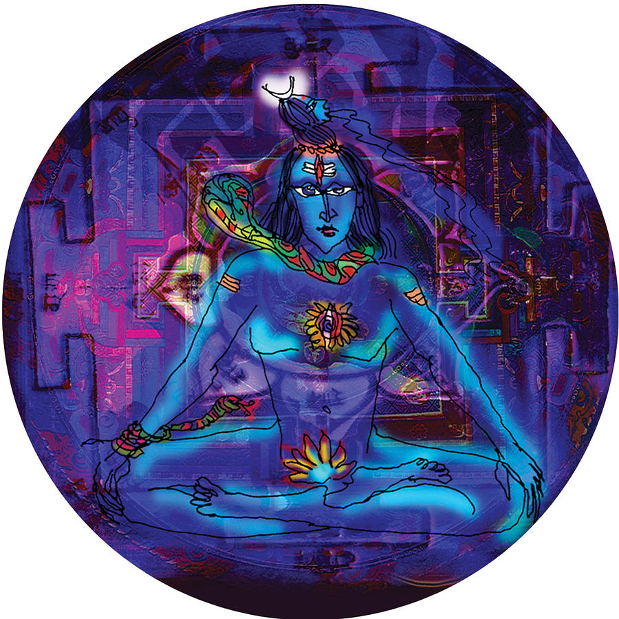 Shiva in meditation by Guruji Aruneshvar Paris Art Curator Katrin