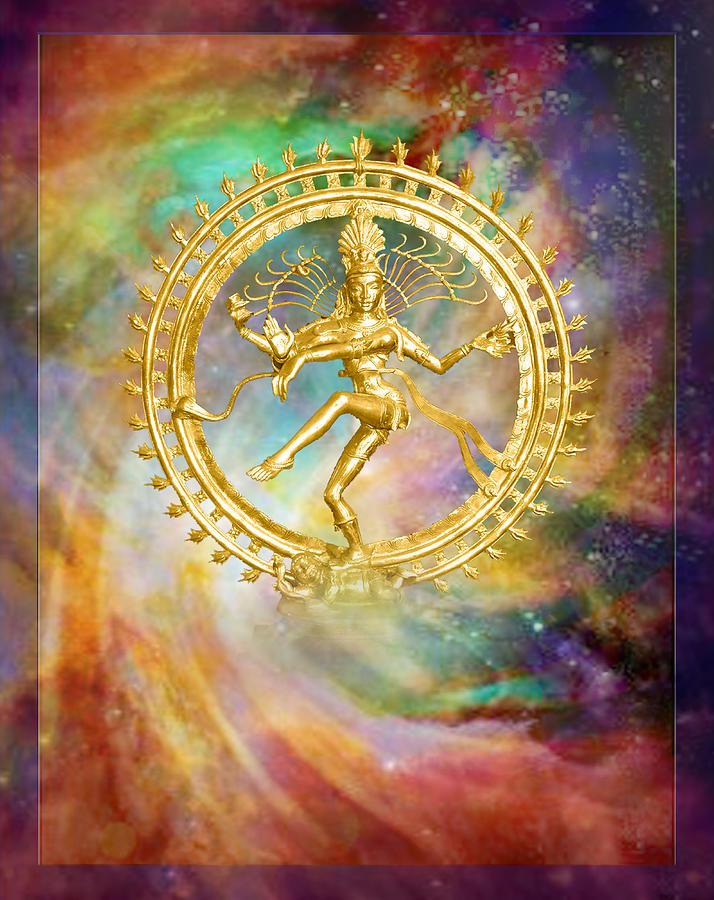 Shiva Mixed Media - Shiva Nataraja - The Lord Of The Dance by Ananda Vdovic