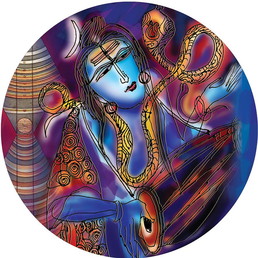 Shiva playing the drums by Guruji Aruneshvar Paris Art Curator Katrin Suter
