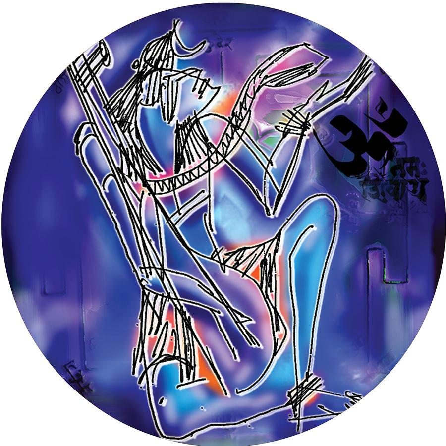 Shiva playing Vina by Guruji Aruneshvar Paris Art Curator Katrin Suter