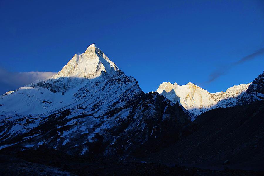 Mountain Peaks Photograph - Shivling And Meru, Uttarakhand, India by Sushil Chikane