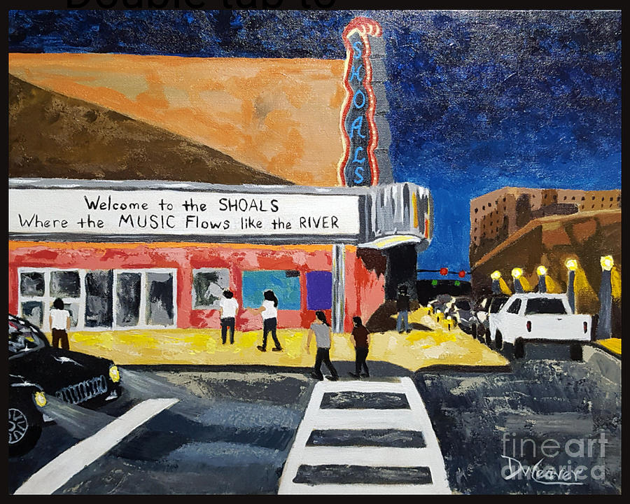 Shoal Painting - Shoals Theater by Dee Weaver