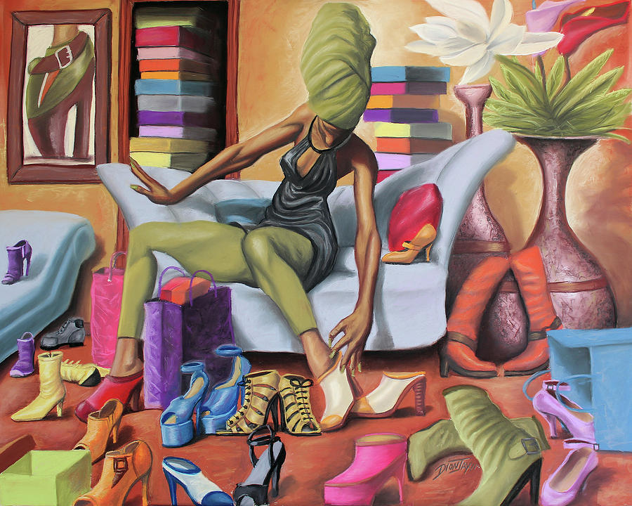 Black Painting - Shoe Addict by The Art of DionJaY