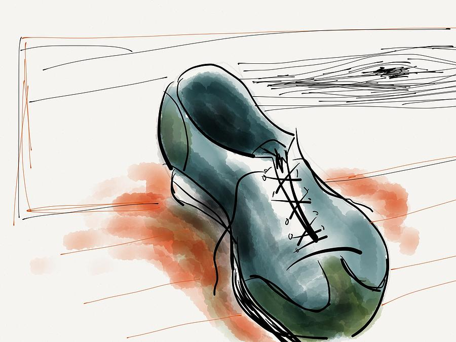 Shoe Digital Art - Shoe Fly by Rio Bautista