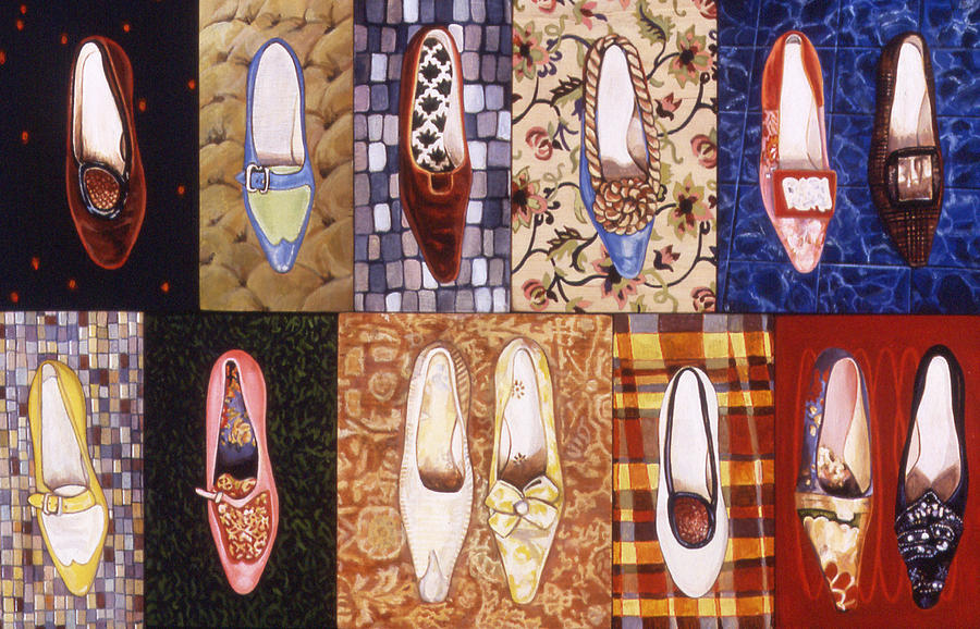 Karl Painting - Shoe Sampler by Karl Frey