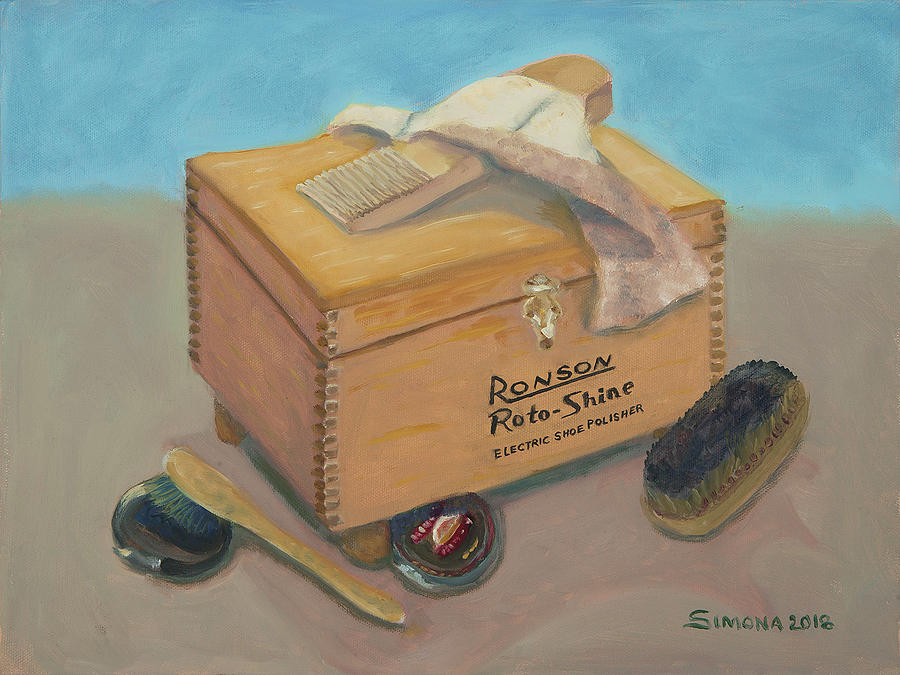 Shoe Shine Box Painting by Simona Hernandez
