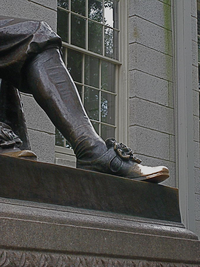 John Harvard Photograph - Shoe Shined by Mary Allison Tierney