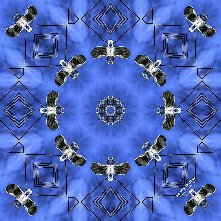 Boot Digital Art - Shoefly 13115k8 by Brian Gryphon